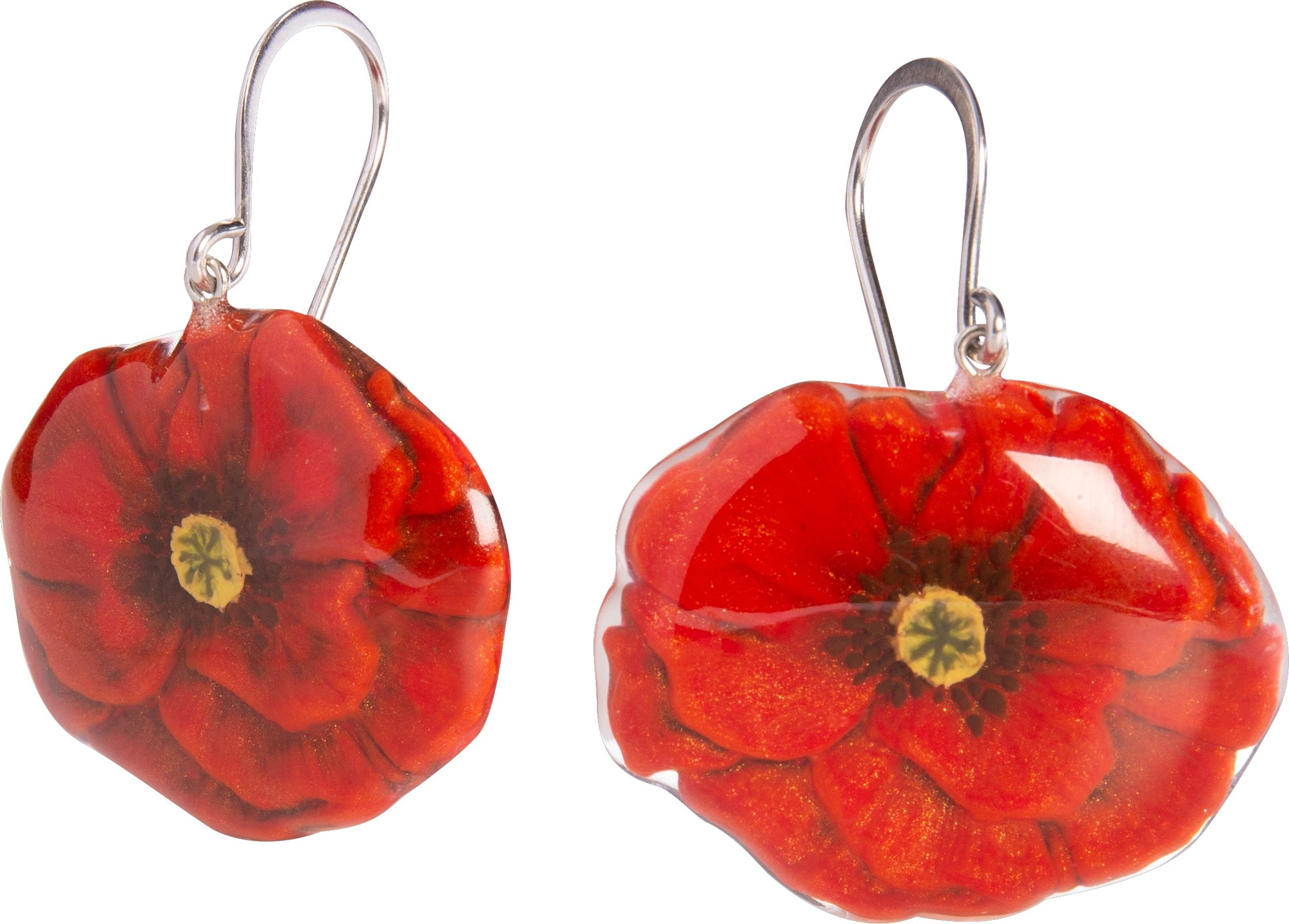 Zsiska Primavera Poppy Drop Earrings