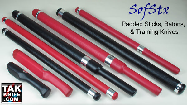 SofStx Padded Escrima Sticks & Training Knives