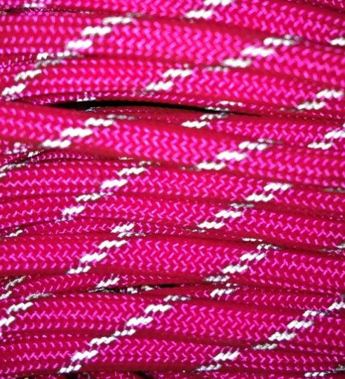 550 Reflective Neon Pink Paracord
