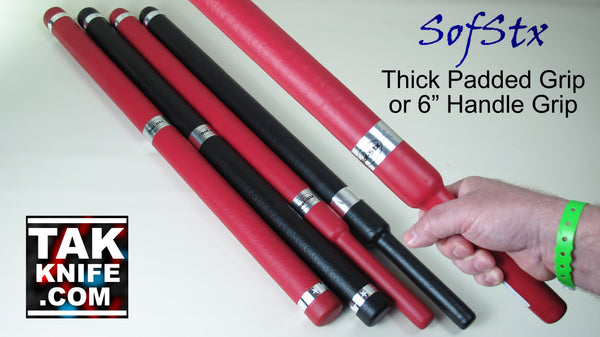 SofStx Padded Thick Escrima Sticks with Hickory or Nylon Core