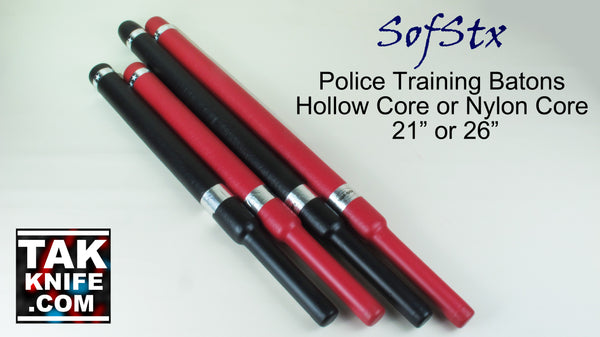SofStx Padded Police Training Batons with Hollow or Nylon Core