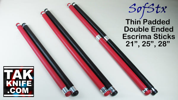SofStx Padded Thin Escrima Sticks, Hollow Core