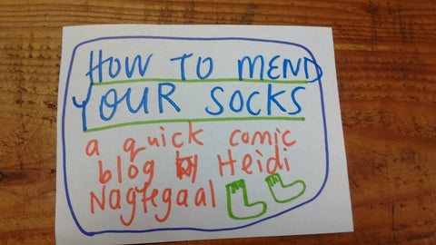 How to Mend Your Socks: Comic Blog