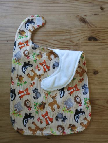 A beautiful, homemade baby's bib!