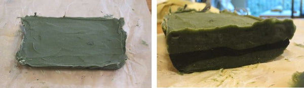 Cutting and Aging Layered Soap