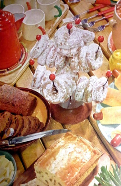 Odd food arrangements from an antique Martha Stewart cookbook