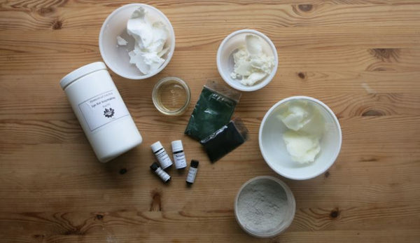Ingredients for layered soap