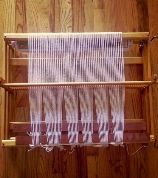 Working with the LeClerc Bergere Rigid Heddle Loom is perfect for beginners (like me!).