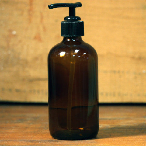 Amber Bottle - Pump Lid