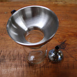 two piece canning funnel on jar top view