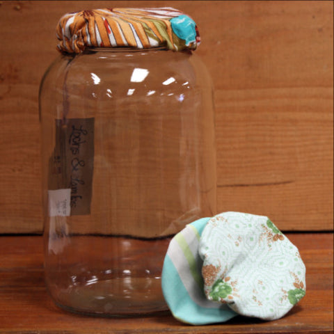 Fabric Jar Cover by Lochs & Lambs