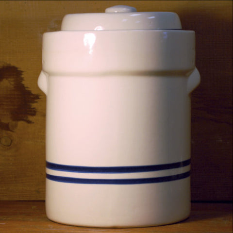 Water Seal Crock with Lid & Weight by Ohio - 3 Gal