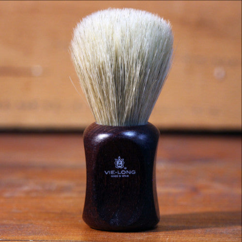 Shave Brush - Horse Hair with Red Wood Handle