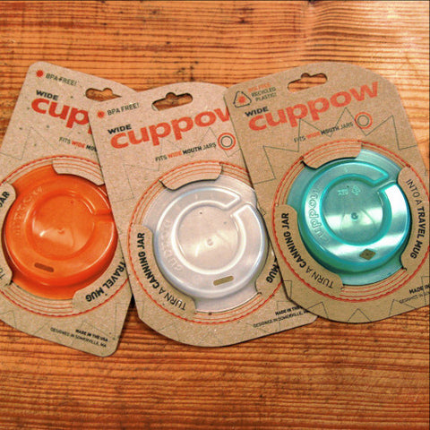 Drinking Jar Lids by Cuppow