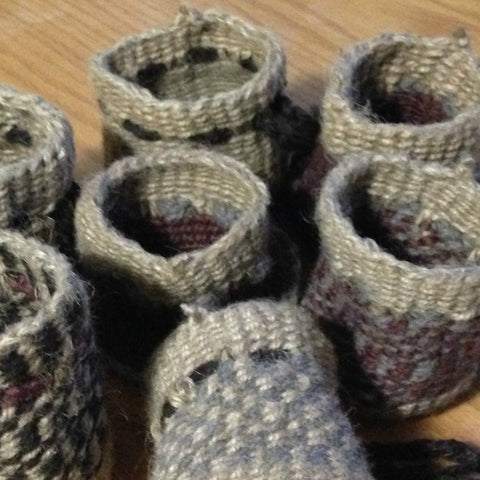 20160312 Jute and Wool Basket Making
