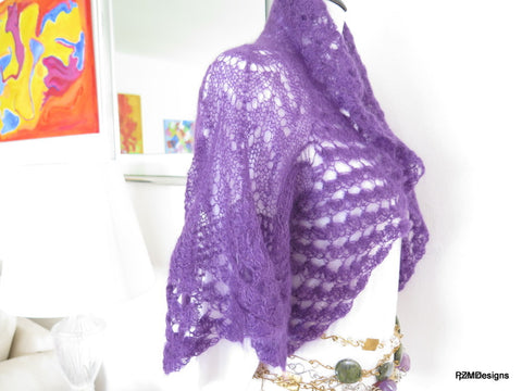 purple lace mohair shrug