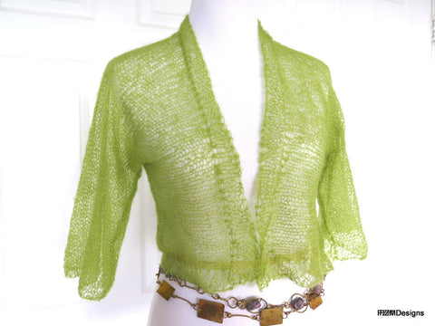 light green mohair cardi