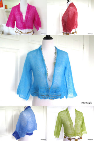 short knit mohair jackets