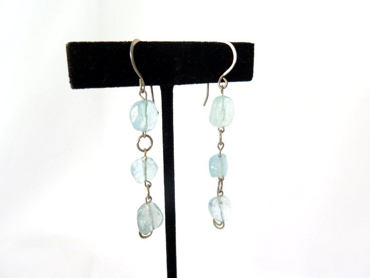 Aquamarine Dangle Earrings - PZM Designs