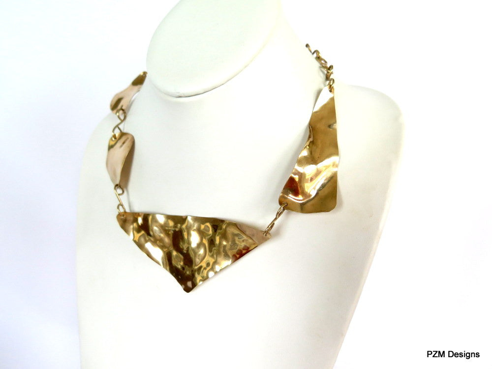 Asymmetric Gold Necklace - PZM Designs