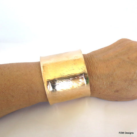 Bronze Armband for Men and Women,  Textured Bronze Wrist Cuffs