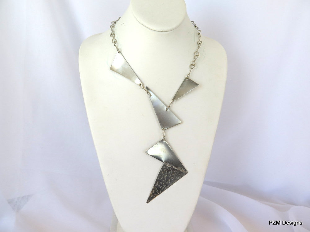 Artisan Silver Neck Piece - PZM Designs, handmade silver necklaces