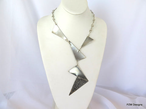 unique handmade metal jewelry, Handmade Metal Silver Necklace