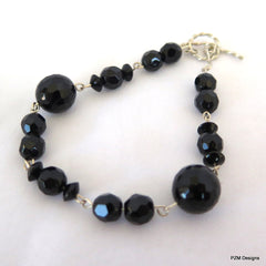 Black Onyx Tennis Bracelet - PZM Designs