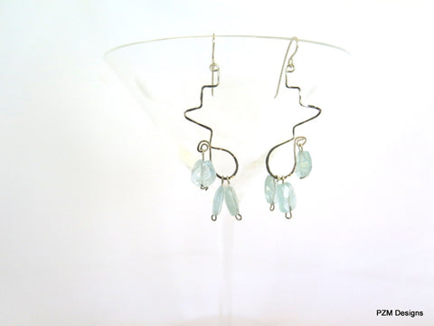 Aquamarine Earrings, March Birthstone Gift for Her