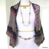 Large Crochet Shrug, Oversized Layering Sweater - PZM Designs