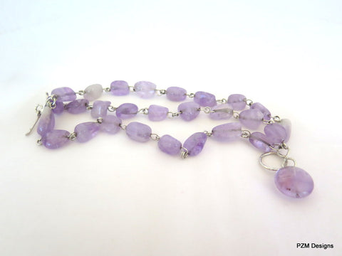 Amethyst Three Strand Bracelet, Gift for Her