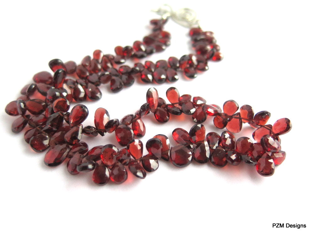 Mozambique Red Garnet Necklace. Gift for her
