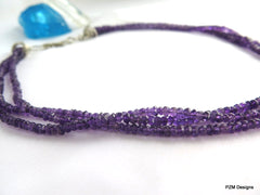 3 strand amethyst necklace
