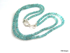 Blue Apatite necklace, Silver Necklace, handmade necklace