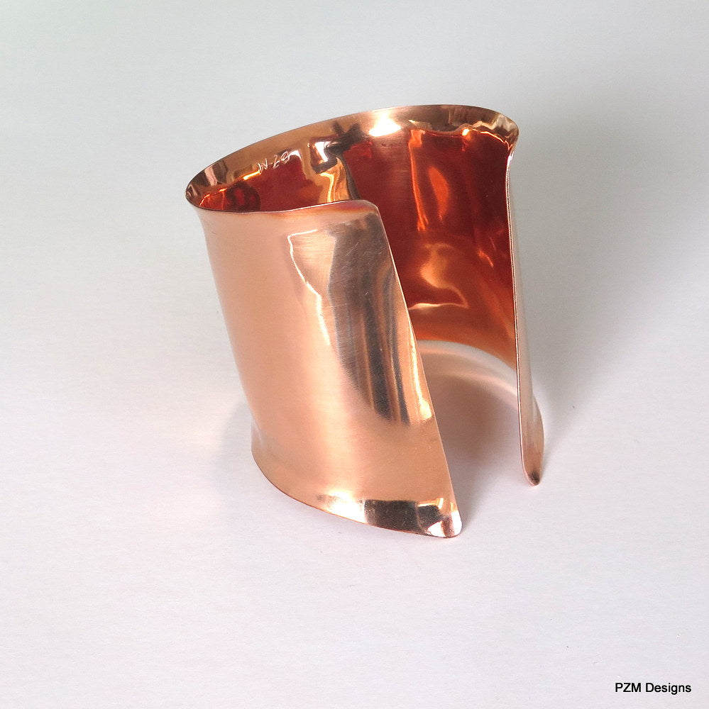 Copper Chevron Cuff, Artisan Crafted Copper Armband