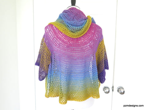 Colorful Extra Large Crochet Circle Shrug