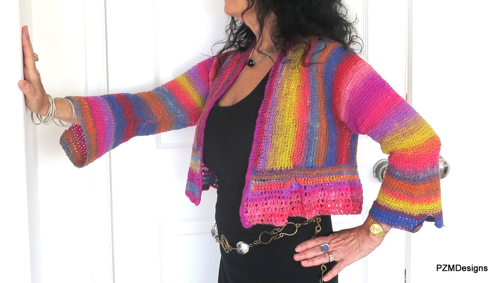 Noro Hand Knit Cropped Jacket