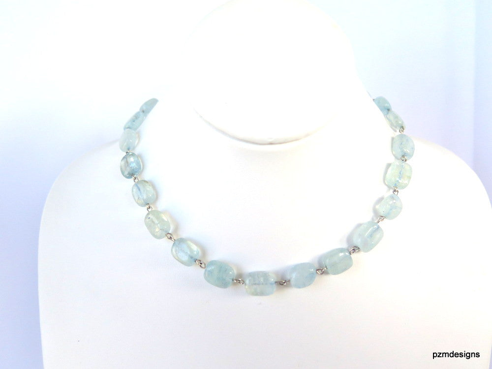 Aquamarine Gemstone Strand - PZM Designs