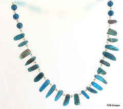 Neon Blue Apatite Necklace, gift for her