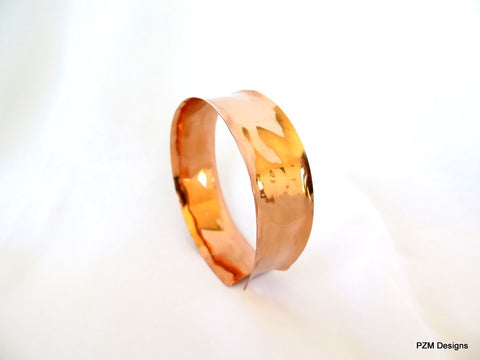Copper Tattoo Cover, Hand Formed Upper Arm Cuff