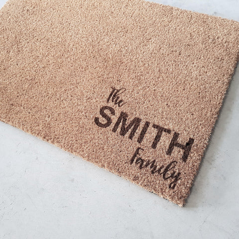 Custom Family name door mat