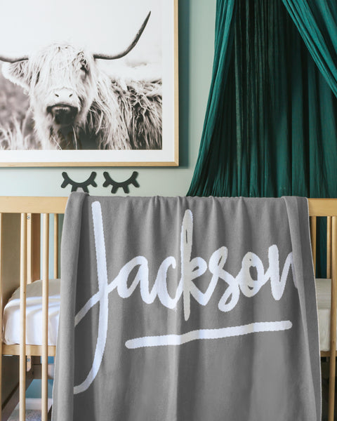 custom PERSONALISED name blankets