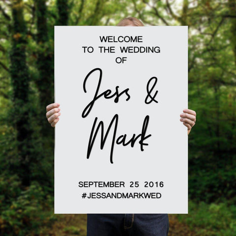 custom rectangular wedding sign