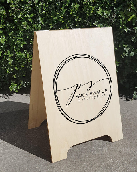 A frame custom business signs