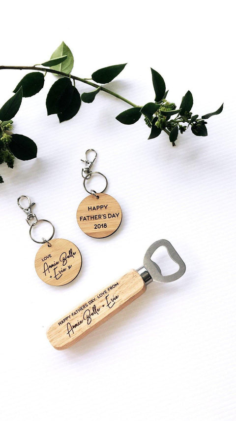 Custom bottle opener gift set