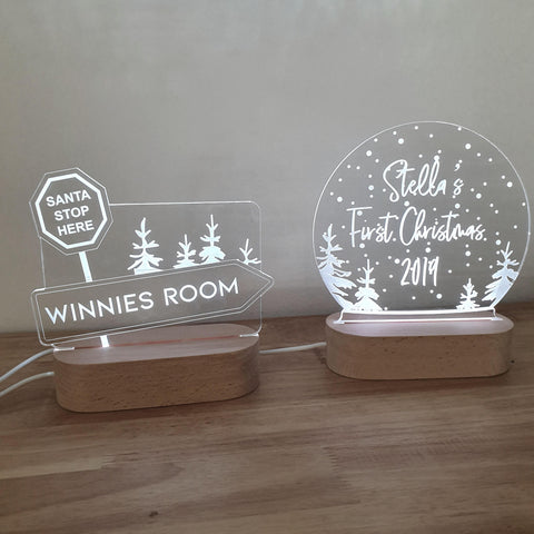 Christmas Personalised Night Light