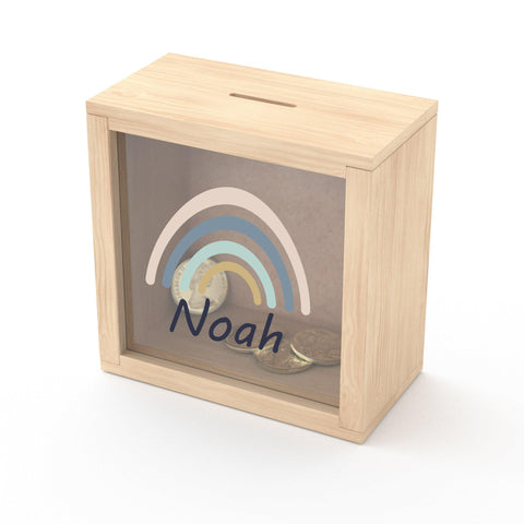 Personalised Wood Money Box
