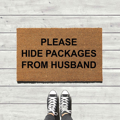 Hide Packages From Husband Door Mat