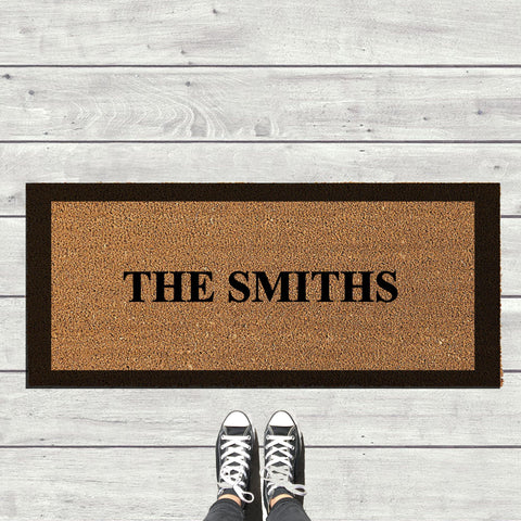 Double Door Personalised Doormat
