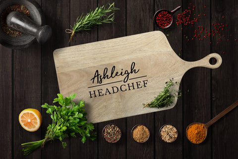"Personalised Chopping Platter Board ""Head Chef"""